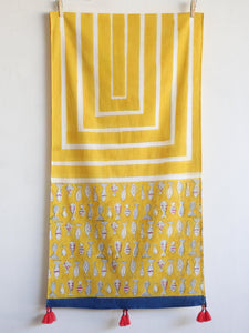 COTTON YELLOW STOLE