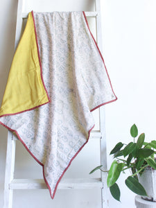 Kids Muslin Blanket with Elephants - CHHAPA