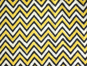 Fabric -Chevron in Yellow