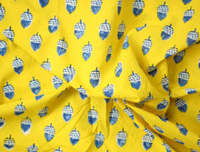Fabric - Nuts in Bright Yellow