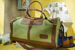 Canvas Leather Duffle Bag - CHHAPA