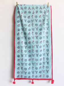 COTTON GRAY STOLE - CHHAPA