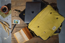Canvas Leather Elephant  Laptop Bag