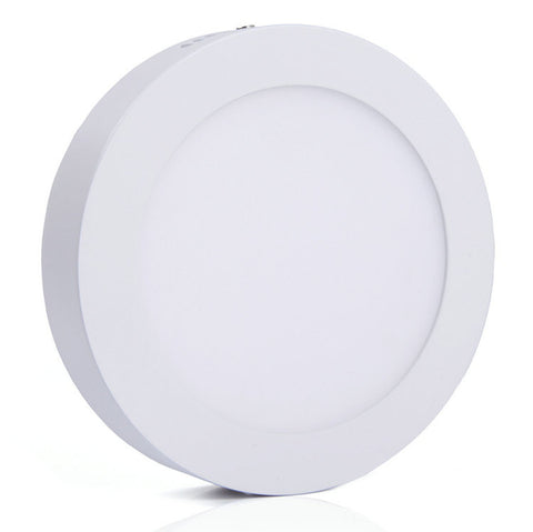 12W LED Surface Mount Panel Light - Round&Square White