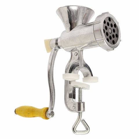 Heavy Duty Hand Operated Kitchen Meat Mincer, Beef Grinder & Sausage Clamp (Size: 10)