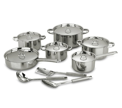 ACE 15Pcs Stainless Steel Cookware Set