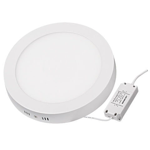 24W LED Surface Mount Panel Light - Round&Square White