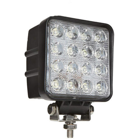 48W LED WORK LIGHT BAR SQUARE LAMP FLOOD TRUCK BOAT OFFROAD