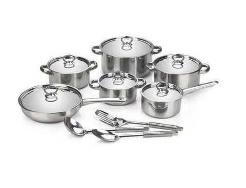 Cookware Stainless Steel Set with Lids - 15 Piece