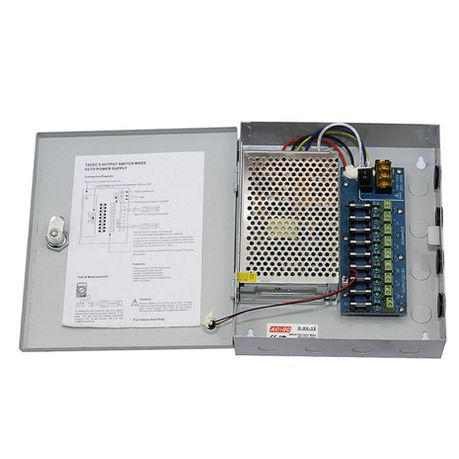 Intelli-Vision Tech 9CH Power Supply 12V DC 10A for CCTV Camera