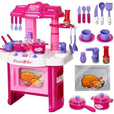Girls Beauty Kitchen Play Set