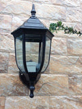 Outdoor Single Style Wall Lamp For Garden Balcony Cottage & Street - Black