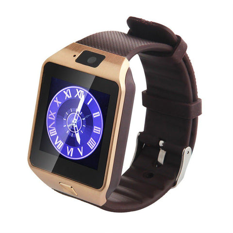DZ09 Android Bluetooth Smart Watch Phone, Camera & Sim Card Slot - Chrome