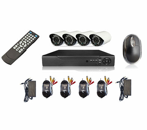4 Channel cctv camera system - Perfect security cameras with internet & phone viewing