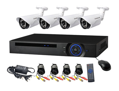 AHD CCTV Direct - 4 Channel cctv camera system - Full Kit Perfect security cameras with internet & phone viewing
