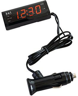 3 in 1 Digital Clock with Voltage & Temperature