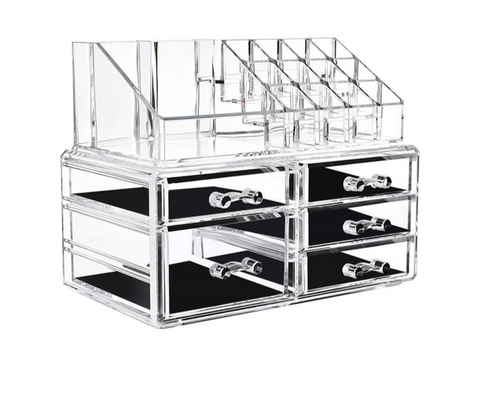 5 Drawers For Jewellery Cosmetics Makeup Box