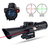 Tactical LS3-10X42E rifle scope laser red laser sight red/green illuminated scope for hunting