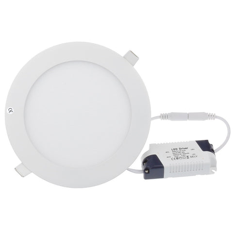 6W LED Panel Light - Round&Square White 4 Pack