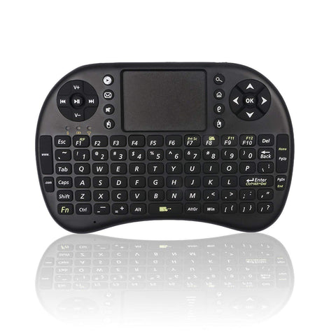 Mini Keyboard with Touchpad Mouse - Black