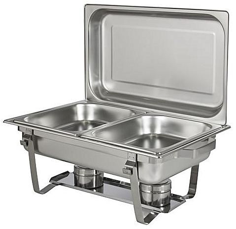 Chafing Dish with Two Double Pan Burners