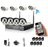 HD 8 Channel 720P Wireless IP Camera CCTV Security Surveillance System NVR KIT