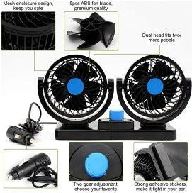 Dual Head Car Air Fan 12V 312