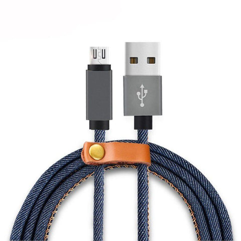 Remax 1.2m Denim Micro USB Charging & Data Cable