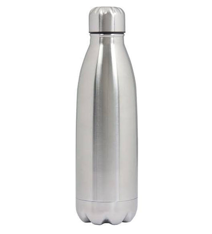 Hot & Cold Water Stainless Steel Vacuum Bottle - Silver (0.5L)