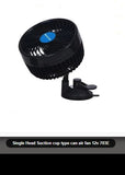 Single Head Suction cup type can air fan 12v 703E