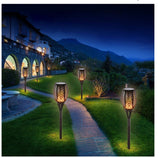 Solar LED Flickering Flame Outdoor Light