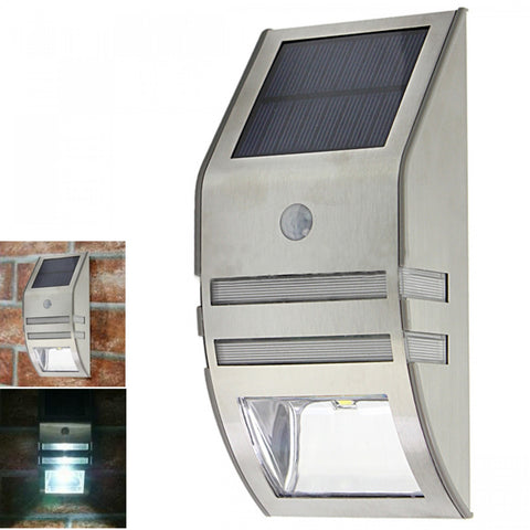 Outdoor Solar Powered Security Light - Silver