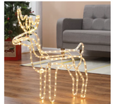 Standing LED Deer Christmas Light Display-Warm White