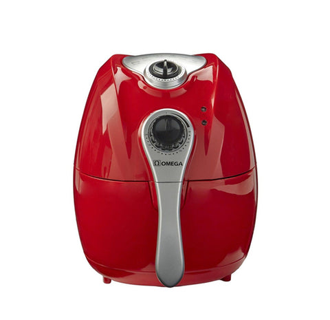 Omega Air Fryer 4.5 Liter Black/Red Available