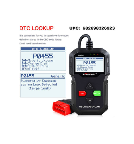 KW590 OBDII/EOBD Scanner CAN Diagnostic Scan tool