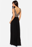 CHIFFON SEQUIN MAXI DRESS