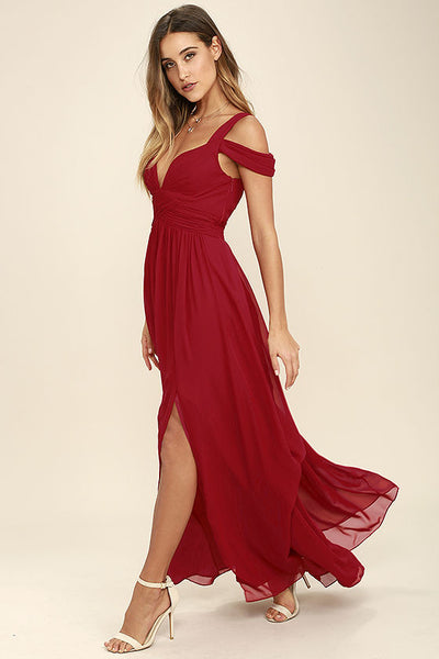 PENELOPE RED MAXI DRESS