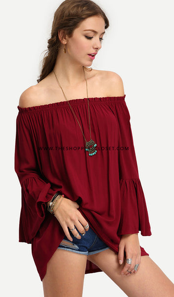 b80899c0d1b24 Laura Bell Sleeve Off Shoulder Top – Rare Collect