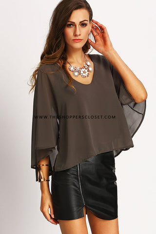 Lucy trimmed cold shoulder top