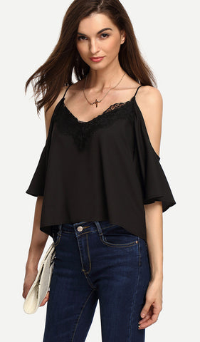 MACY LACE NETTED CROP TOP RTS