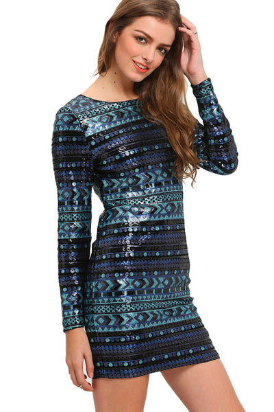 LEXIE SEQUIN EMBELLISHED BODYCON DRESS