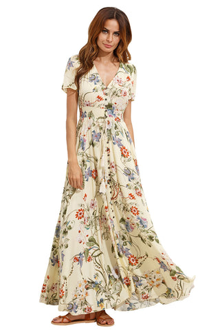 ALL OVER FLOWER EMBROIDERED MESH OVERLAY DRESS