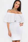 HEATHER WHITE BARDOT DRESS RTS