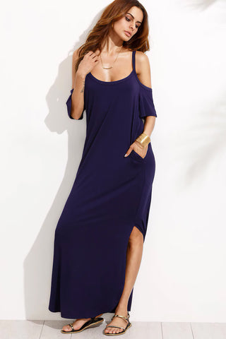 OFF SHOULDER TWIST FRONT DRESS