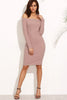 VERA DUSTY PINK OFF SHOULDER DRESS RTS