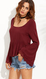 MARJORIE BURGUNDY TOP