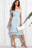 SHELLY BLUE OFF SHOULDER DRESS RTS