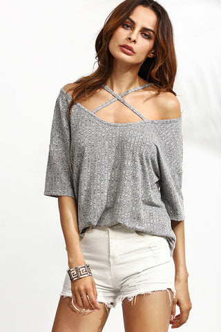 Striped Skye Off Shoulder Top RTS