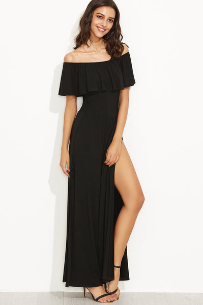 1b4eeff1bd33 FLOWING PALAZZO OFF-SHOULDER SLIT JUMPSUIT – Rare Collect