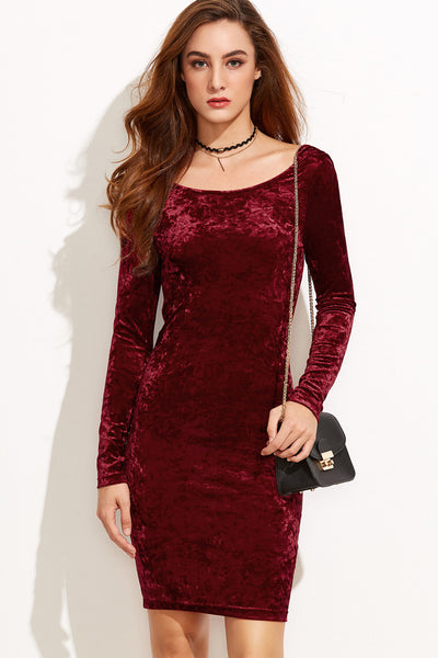 JAZZ VELVET DRESS WITH DRAPE BACK
